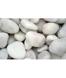 Seixo mármore branco 40x120mm